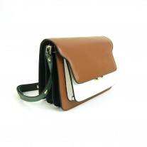 Jacey Crossbody Brown/Green | Butterfield