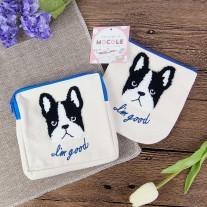 Bulldog Cosmetic Canvas Bag | LotusTing