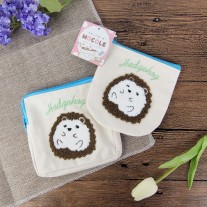 Hedgehog Makeup Canvas Bag | LotusTing
