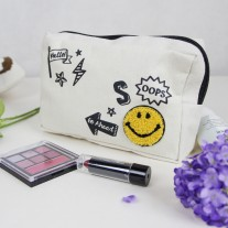 Smiley Cosmetic Canvas Bag | LotusTing
