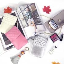 Emmy Phone Bag Silver | Modern Heritage