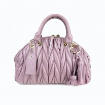 Liza Matelassé Top Handle Purple | Modern Heritage