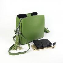 Sheryl Shoulder Bag Green | Modern Heritage