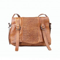Craig Antique Woven Messenger Brown | Urban Forest