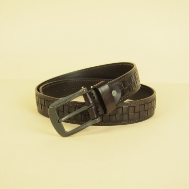 Lajos Belt Dark Brown | ButterField