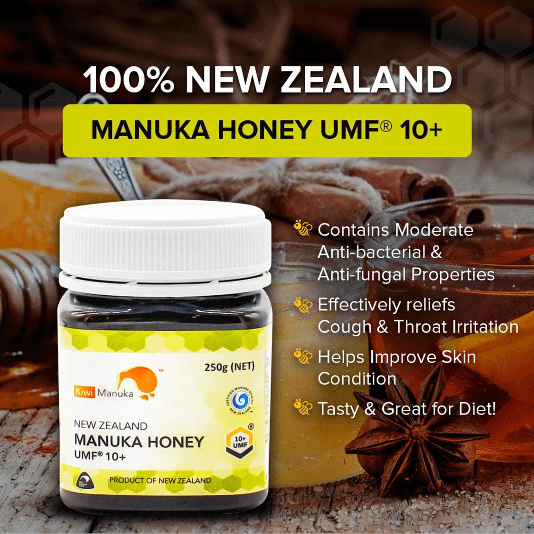 Kiwi Manuka Honey UMF® 10+ 250G
