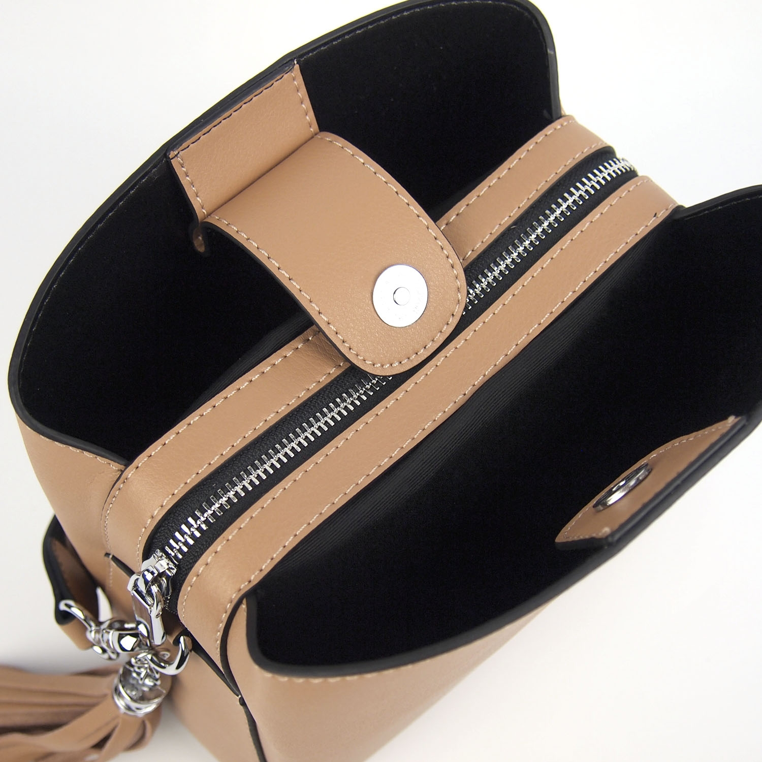 Magnificent Modern Heritage Sheryl Crossbody Studs and Leather