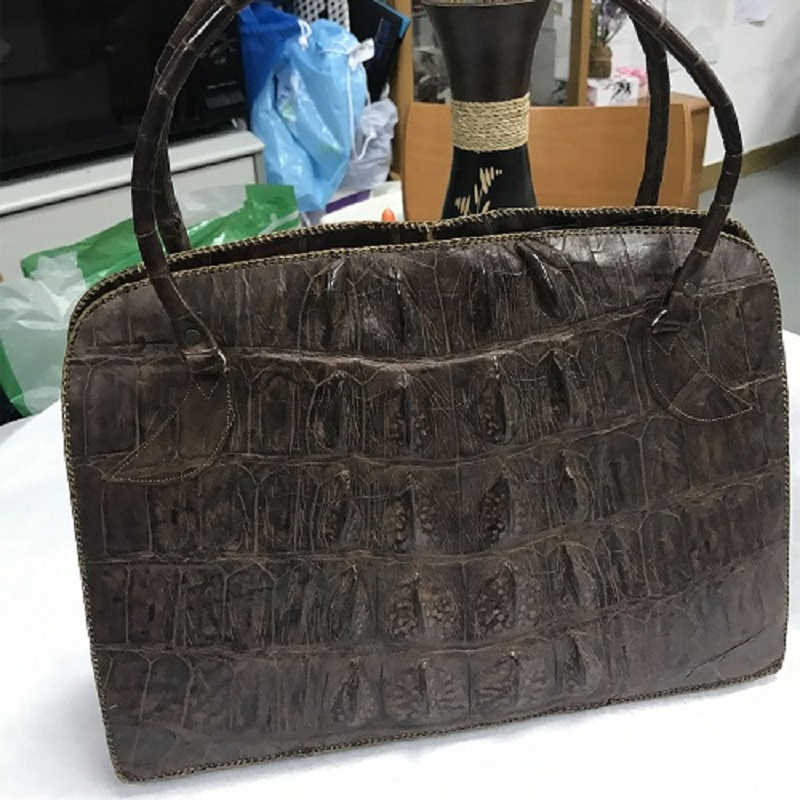 Less Cared Croc Leather Handbag