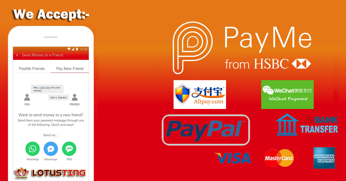 We Accept Payme from HSBC now at Lotusting eShop!