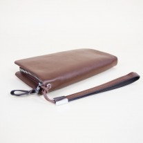 Aiken Clutch Brown | Butterfield