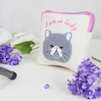 Cat Cosmetic Canvas Bag | LotusTing