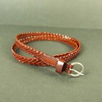 Rubie Woven Belt Dark Brown | LotusTing