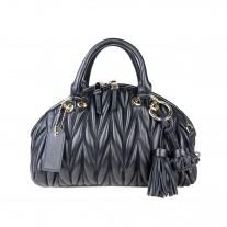 Liza Matelassé Top Handle Black | Modern Heritage
