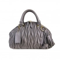 Liza Matelassé Top Handle Grey | Modern Heritage