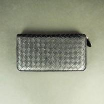 Natty Woven Lamb Leather Wallet Black | Modern Heritage