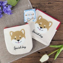 Shiba Cosmetic Canvas Bag | LotusTing