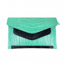 Shell Green Clutch | Urban Forest