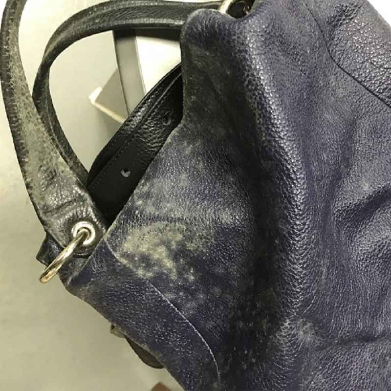 Leather Handbag in heavy mold